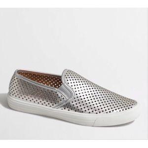 J. Crew Silver Sneaker